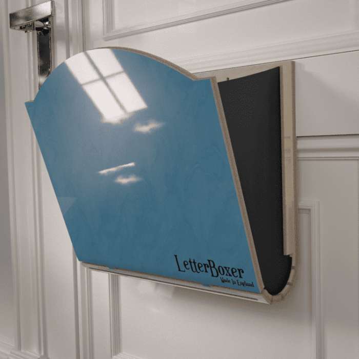 750 letterbox cage Blue GREY
