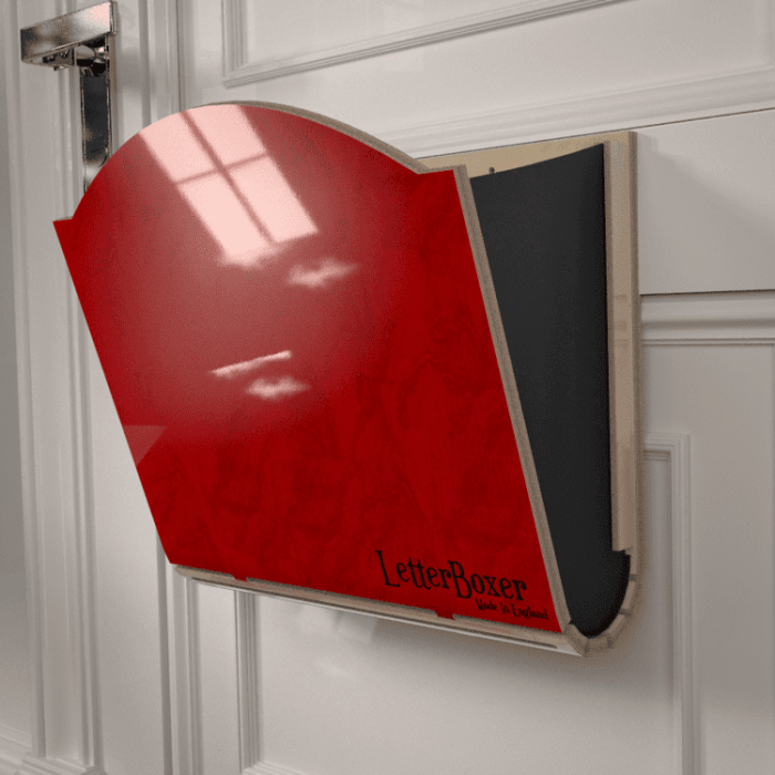 750 letterbox cage Red GREY