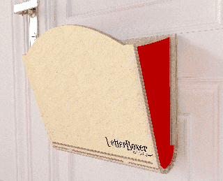 Need a letter catcher but still want to open your door fully?
